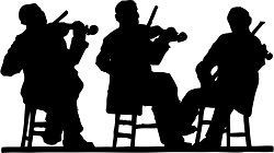 johnny_automatic_3_fiddlers_in_silhouette